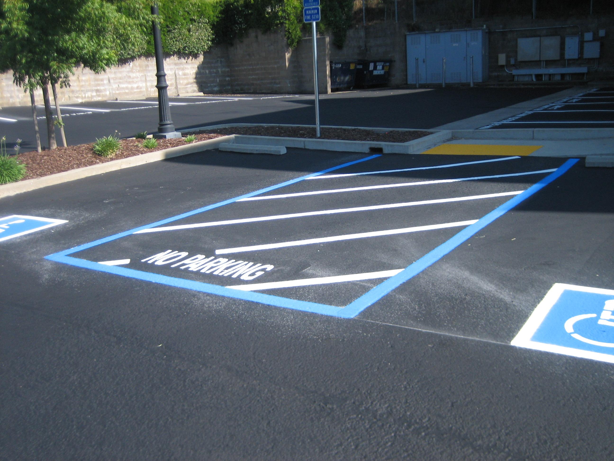 Custom Curb Painting, Handicap, ADA Upgrades, Crackfill